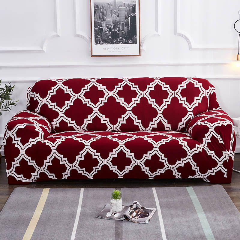Full Stretch Sofa Cover 1 2 3 4 Seater Couch Elastic Protector Slipcover Couch