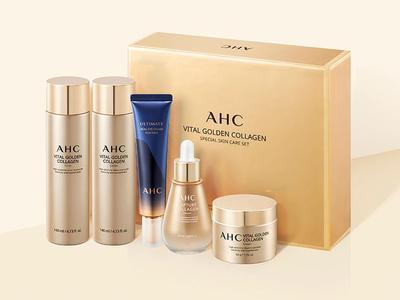 Vital Golden Collagen Special Skin Care Kit: Tonic 140ml, Lotion 140ml, Cream 50g, Ampoul Care 50ml, Eye Cream 30ml