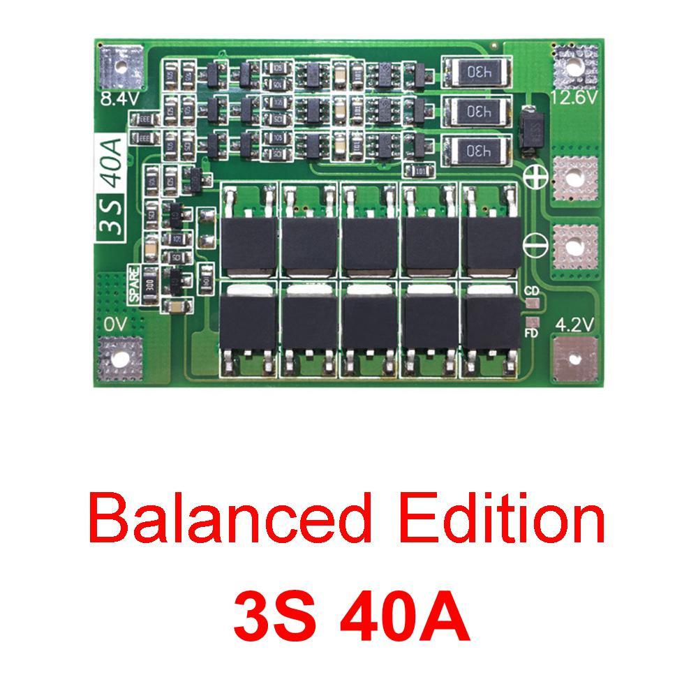 BMS 3S 25A Li-Ion LiPo Battery 18650 Charger Protection Board 12,6V  Balancer