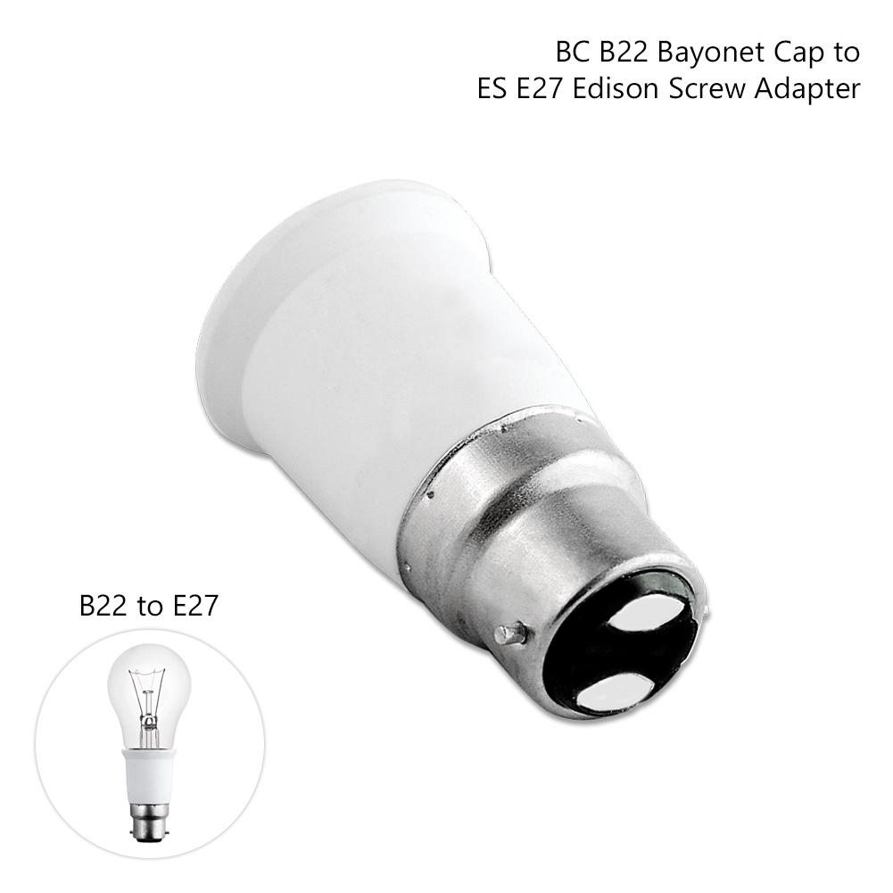 Plug ES to BC Socket E27 to B22 Bulb Adapter Connector