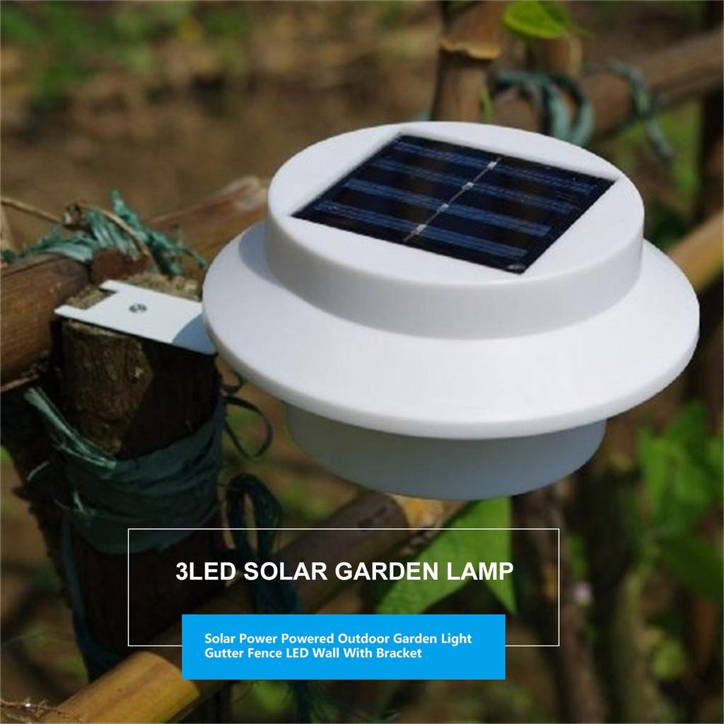 Pp Solar Power Powered Outdoor Garden Light Gutter Fence Led Wall With Bracket Pss Buy At A Low Prices On Joom E Commerce Platform