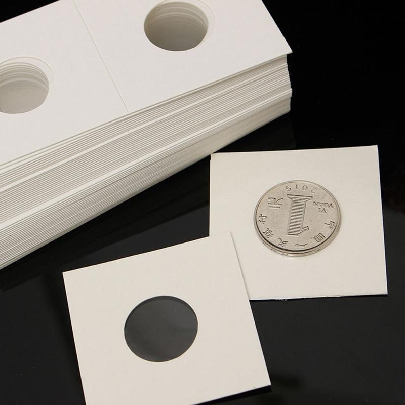 50 Cardboard 2x2 Coin Holder Mylar Flips for Silver Dollars high quality 40mm us