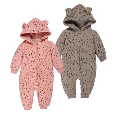 75ffccaff Baby Fleece Romper Autumn Winter Long Sleeve Hooded Boys Girls ...