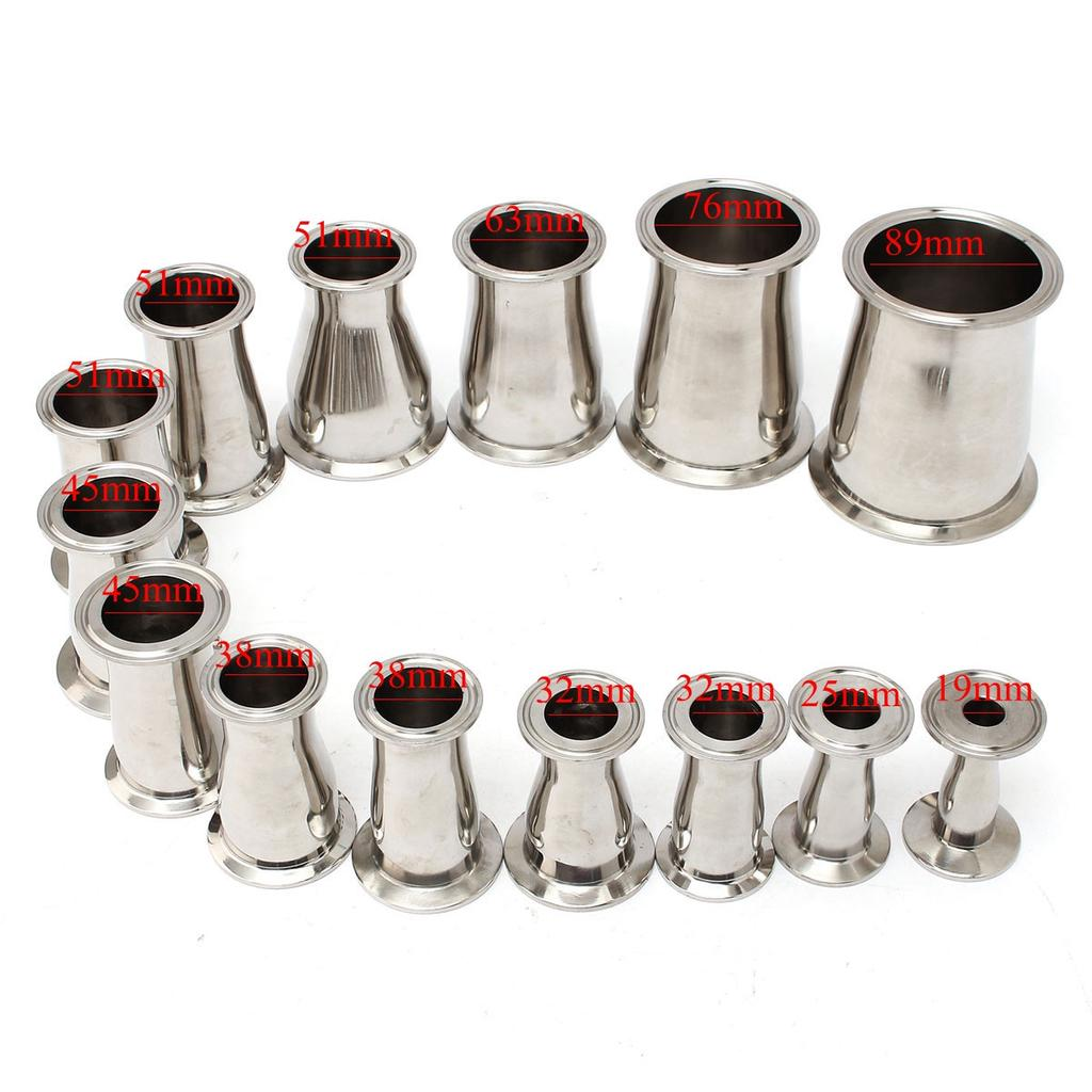 """304 Stainless Steel OD 3//4/"""" 19mm Sanitary Tri Clamp Elbow 90 Degree For Homebrew"""