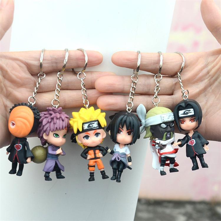 Silberne Farbe Naruto Metall Schlüsselanhänger Naruto Gesicht Kopf