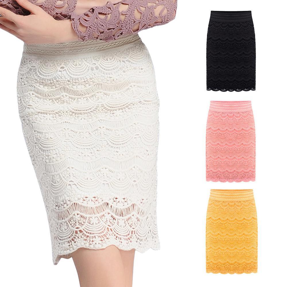 Женская кружевная юбка-карандаш фото
