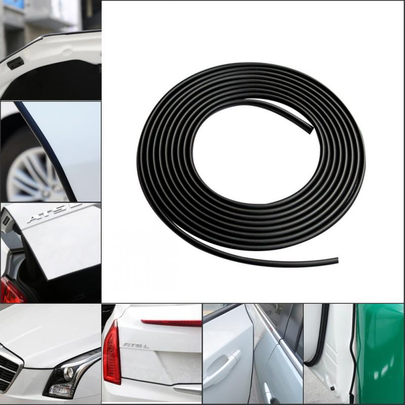 16FT//5M Black Car Door Moulding Trim Rubber Strip Scratch Protector Edge Guard