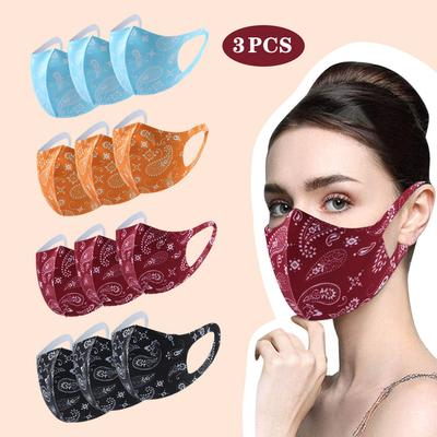 3pcs Adult Washable Reusable Dustproof Anti-spitting Protective Face Cover Masks
