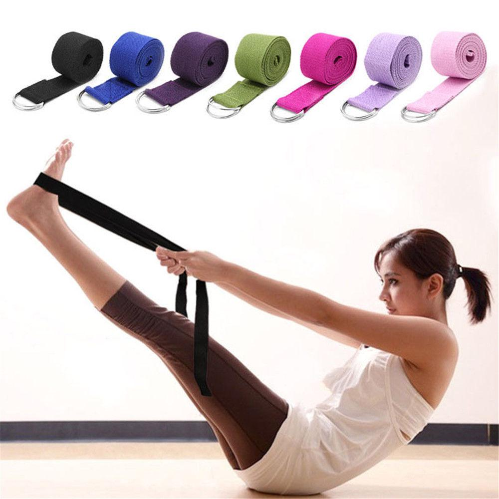 Traditional & Cultural Wear Fitness Equipments Yoga Resistance Bands 183 Cm/ 72.05 Inch Sports Waist Legs Yoga Fashionable Cotton Stretching Strap Adjustable Tension Belt