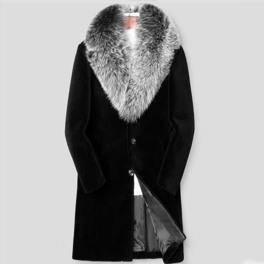 Men S Faux Fur Mink Hair Long, Fur Coats Mens Faux