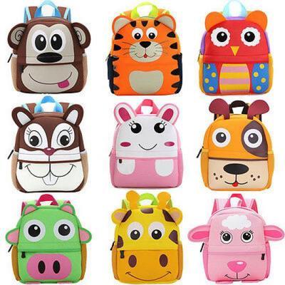 1-3Years Toddler Kids Boys Girls 3D Cartoon Animal Backpack School Bag Rucksack