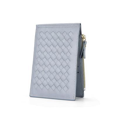 Large leather wallet Frandi blue python.
