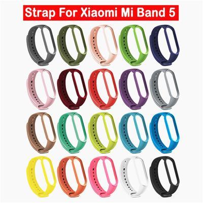 Silicone Watch Strap Wrist Strap Replacement Band Belt For Xiaomi Mi Band 5 Sport Bracelet