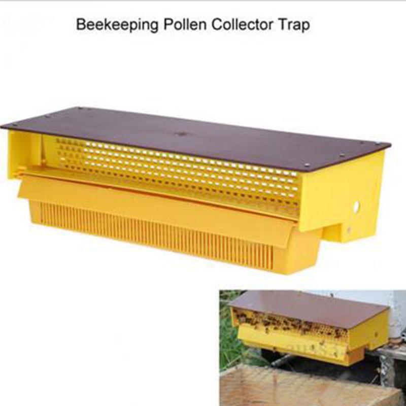10pcs 39.5cm Bee Beehive Pollen Collector Trap Beekeeping Honeycomb Tool Yellow