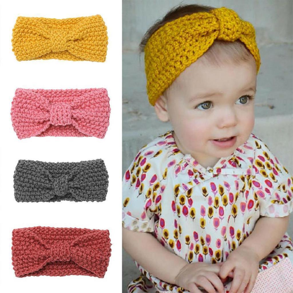 Neugeborenes Baby Mädchen gestrickt häkeln Stirnband Haar Band ...