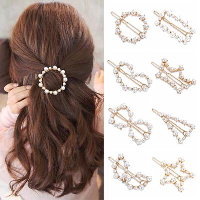 Fashion Barrette Women Elegant Korean Hair Clip Snap Stick Hairpin Bobby Pin Headwear Accessories