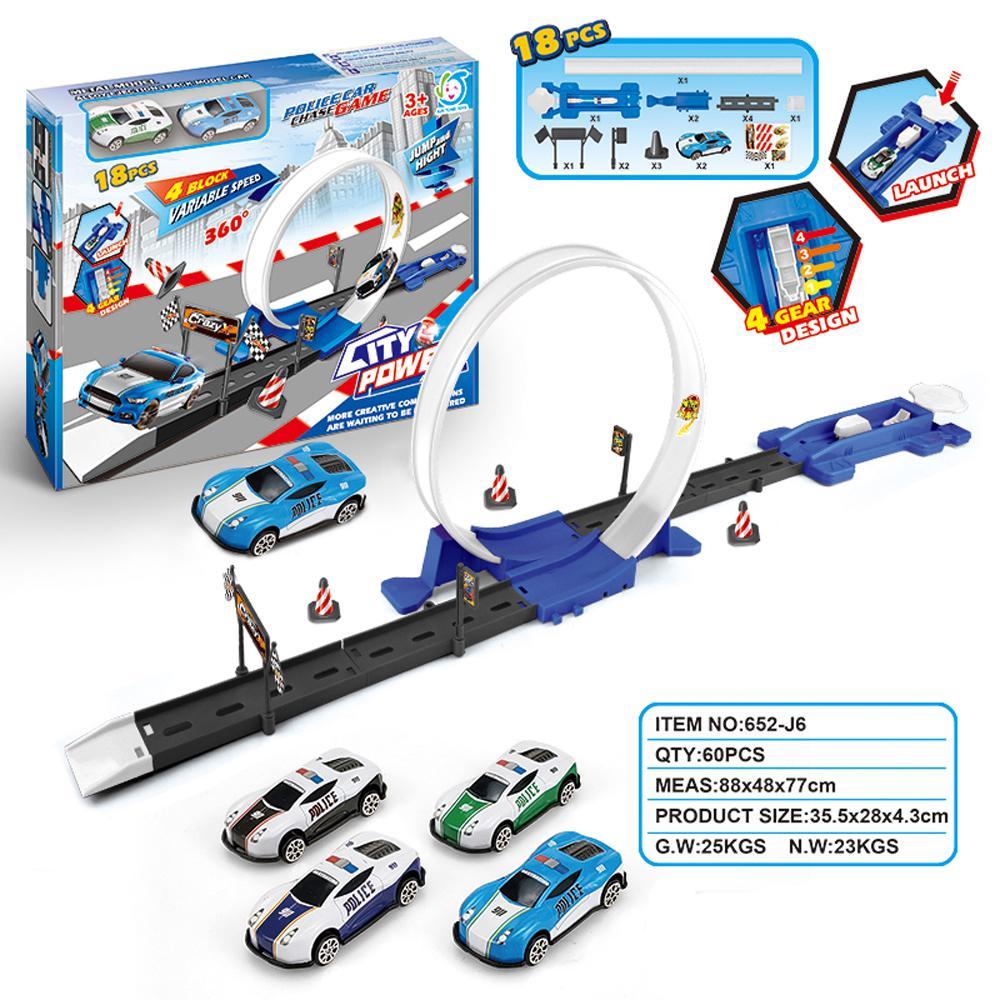 Model Track Pull Back Car Puzzle Flexible Rail Car Early Education Sports Car