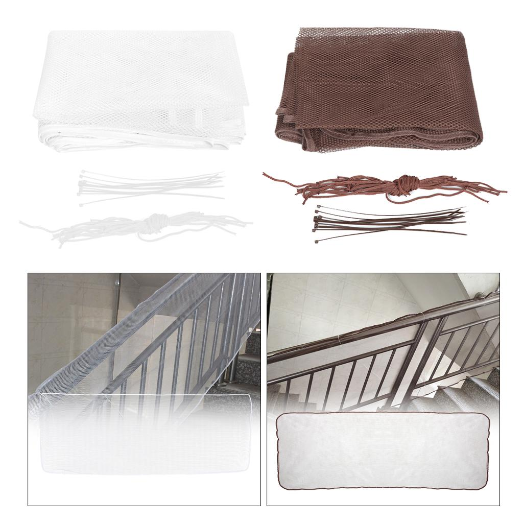 #2 2M Baby Safety Stairs Rail Net Child Safety Net Balcony Kid Children Pet Stairs Railing Guard Accident Prevention Mesh