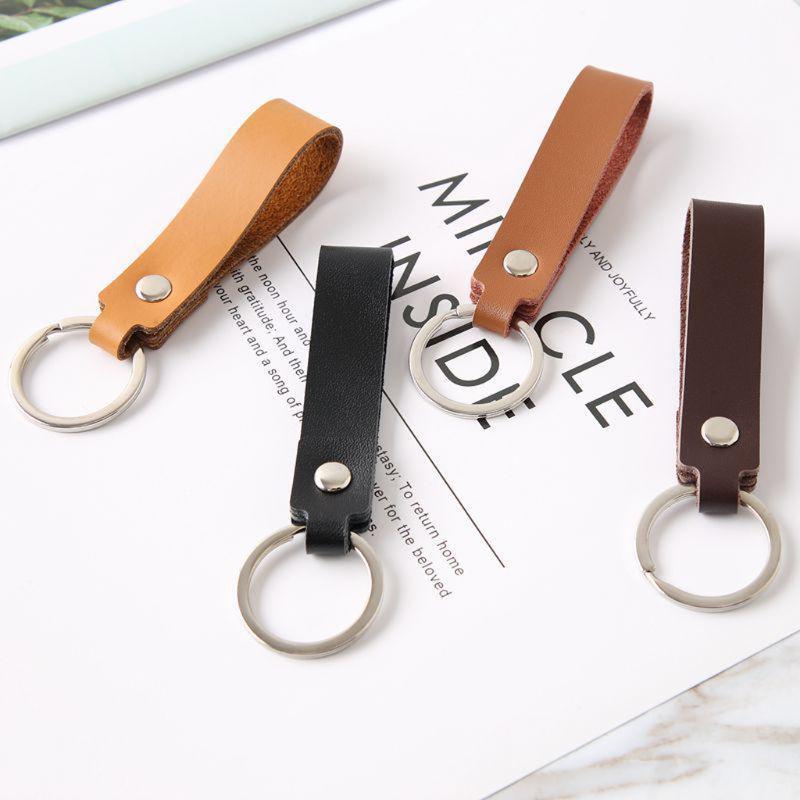 Handmade Genuine Leather Keychain with Initials