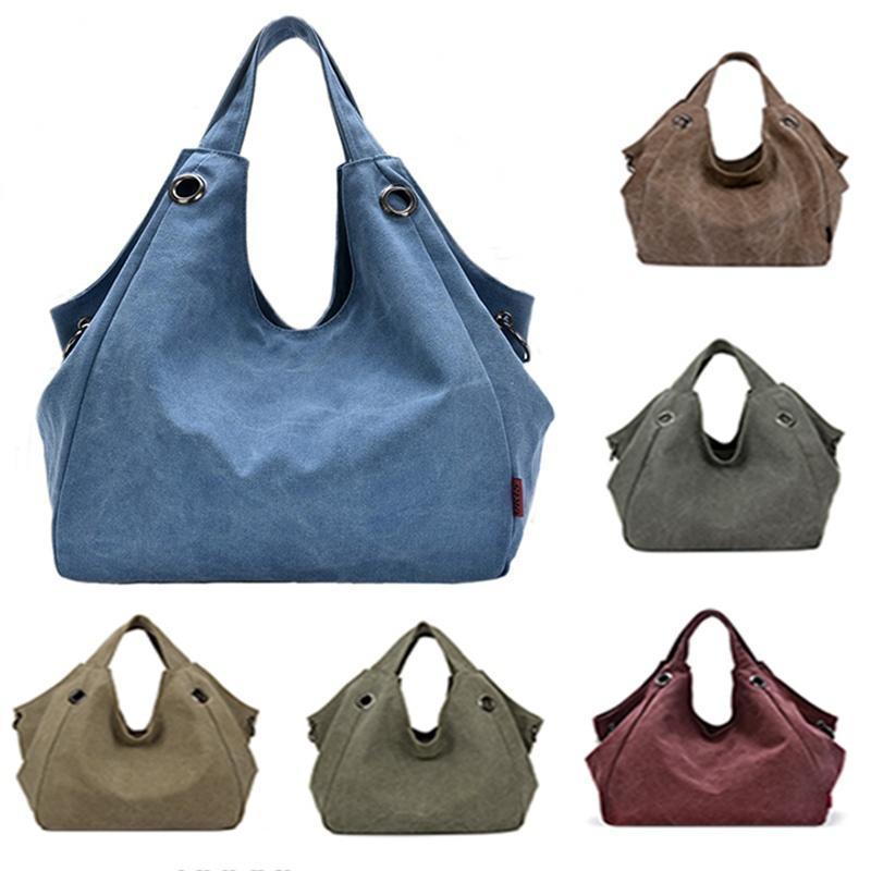 Вместительная женская холщовая сумка на плечо фото