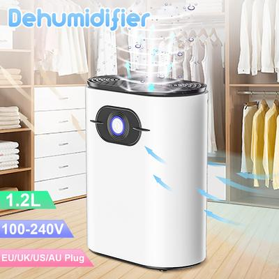 1200ml Home Dehumidifier Negative Ion Air Cleaner Energy Saving Air Dryer Low Noise Water Tank Auto-off Moisture Absorbing