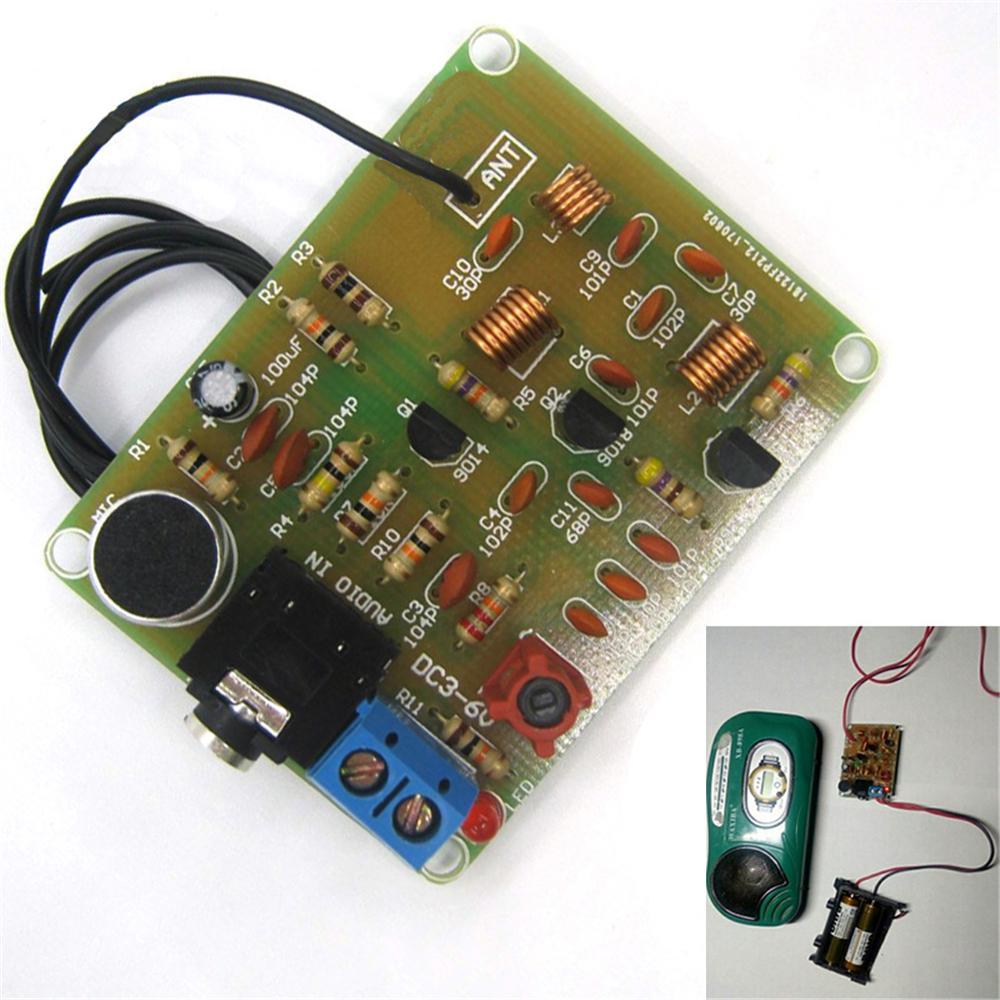 DIY Kit 88-108MHz FM Transmitter Modulation Wireless Microphone Suit 5-15mA