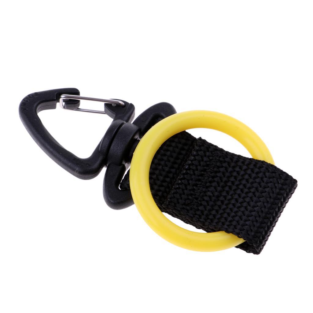 2Pcs Scuba Diving Snorkeling Silicone Regulator Octopus Holder Straps Yellow