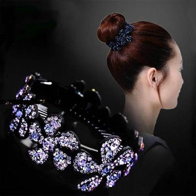 New Chic Women Crystal Rhinestone Barrette Twist Hair Clip Hairpin Pin Jewelry