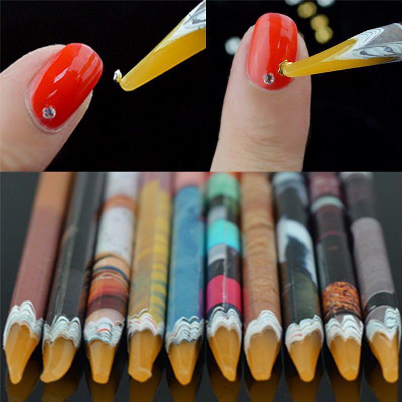 Случайный корабль декор красочными перо 1шт Горячие выбор ногтей инструмент посвятил липкое фото