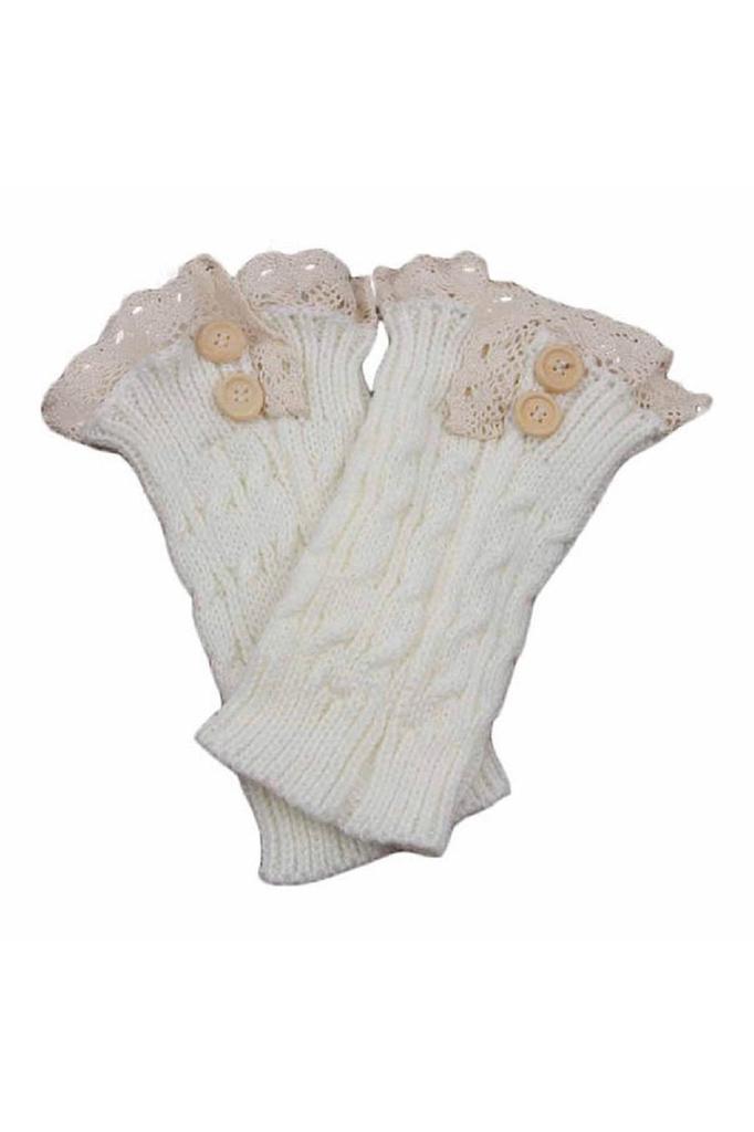 Crochet de las mujeres Lace Trim calentadores calcetines arranque ...