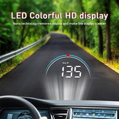 "Multifunctional LCD 5.5/"" Auto Truck HUD Head Up Display Over Speed Warning OBDII"
