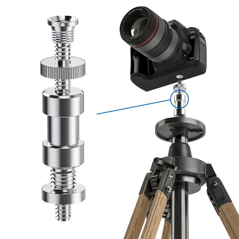 Tripod Light Stand Flat Head Converter to 1//4 Screw Adapter for LED Light Monitor Flash Light Photography Accessories