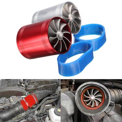 New RED Dual Fan Turbonator Fuel Saver For Turbo Supercharger Air Intake
