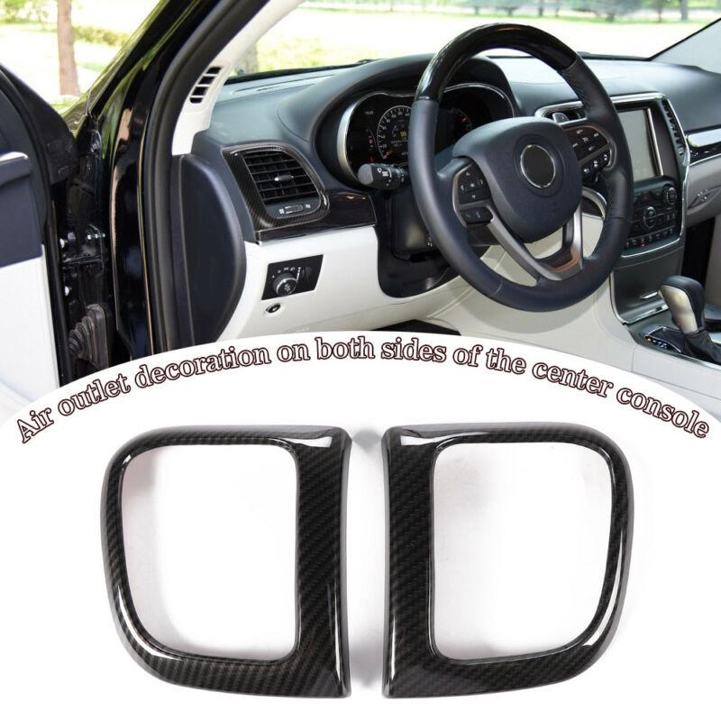 For Jeep Cherokee 2019 Carbon Fiber Inner Side/&Rear Air Vent Outlet Cover Trim