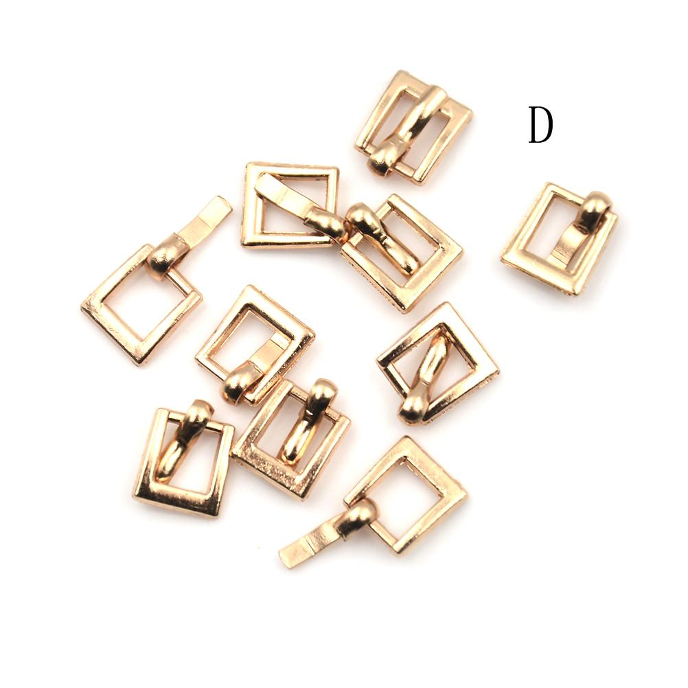 4MM Diy ultra-small Japanese Word Belt Buckle For bjd blyth doll shoes acc TEUS