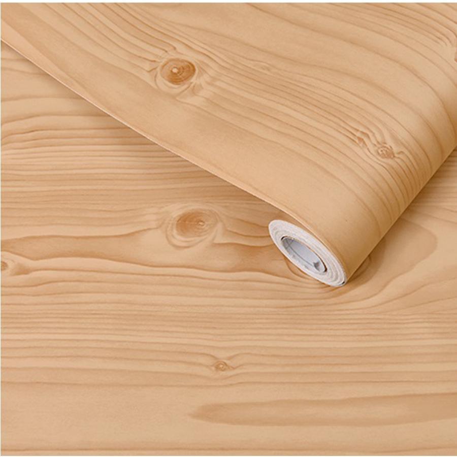 Wood Grain Waterproof Self Adhesive Wallpaper Furniture Stickers Vinyl Décor PVC