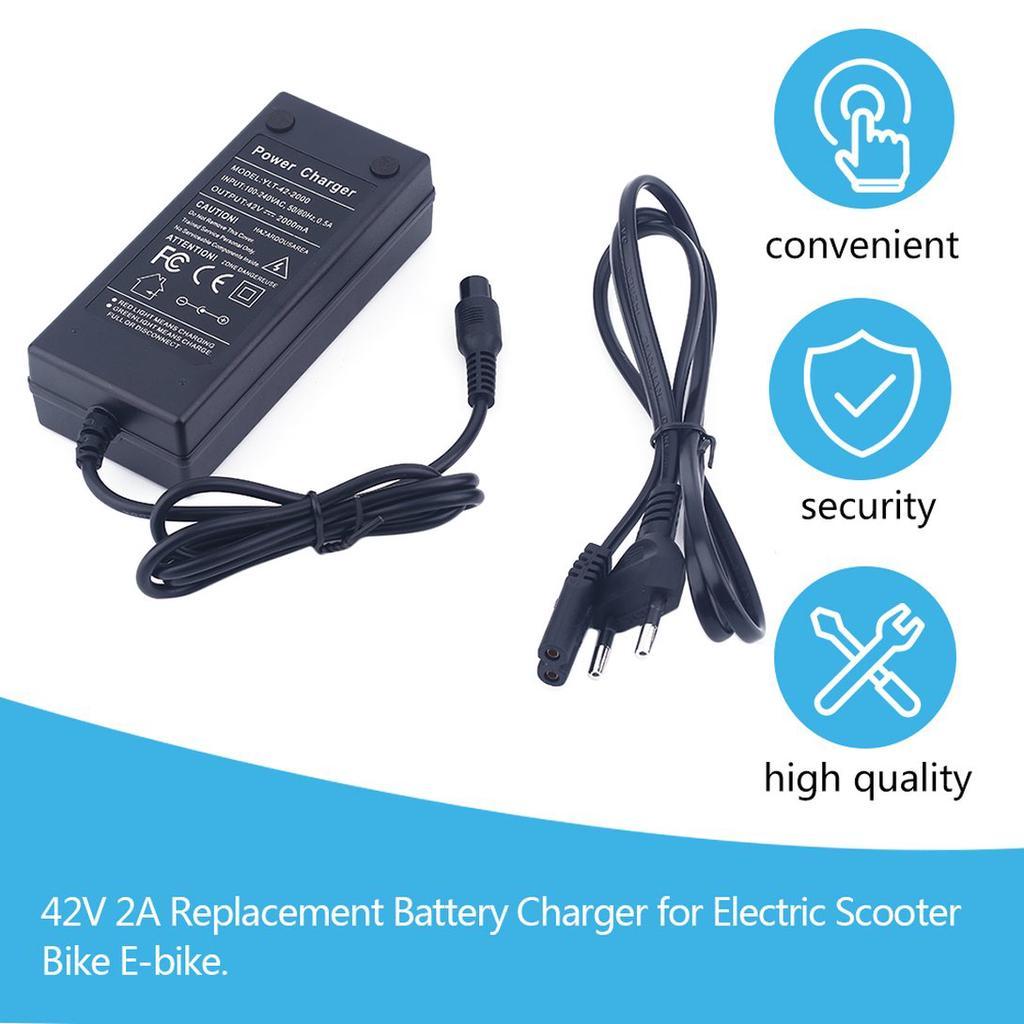 110-240V EU Plug 48V Battery Smart Charger for Electric Bicycle E-bike Scooter