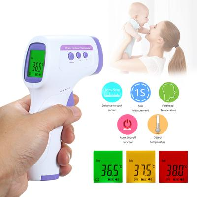 Non Infrared Digital Infrared Thermometer 3Color LCD Backlight Degrees C Fahrenheit Memory Function Non IR Forehead