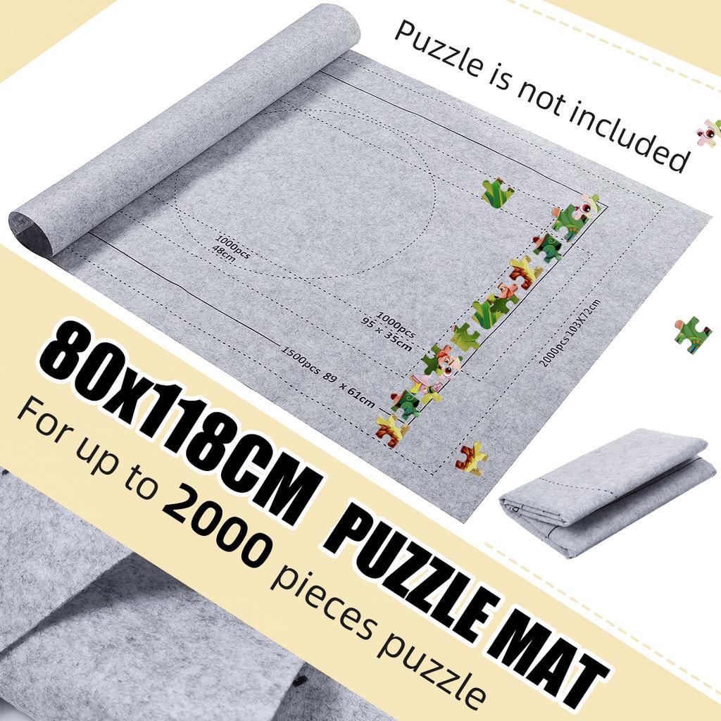 80x118Cm Головоломка Pad Aufbewahrungsmatte Свернуть головоломки Filz Kinder 1500-3000 кусок – купить по низким ценам в интернет-магазине Joom