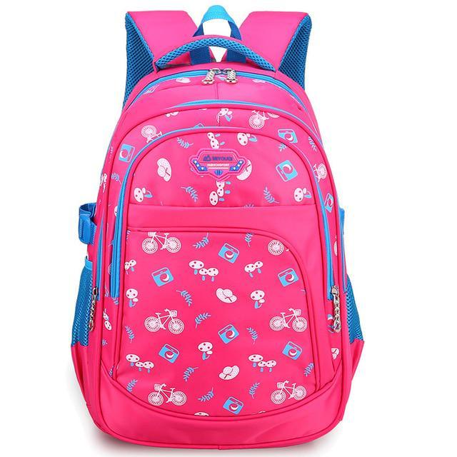 Meninos 3 6 estudantes meninas grau floral bonito impressão saco de nylon impermeável Mochila Escolar