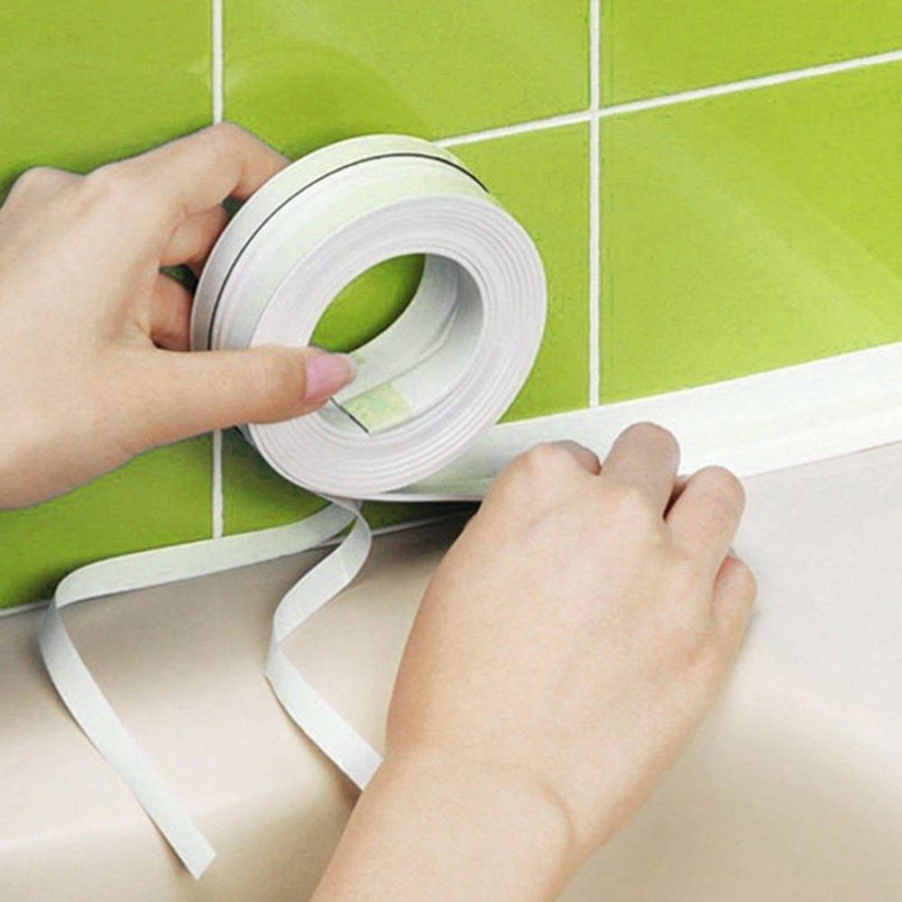 Bathroom Door Wall Sealing Strip Self Adhesive Soundproof Tape Sink Basin Edge