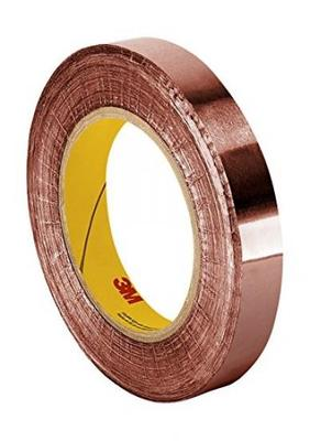 3M 1183 Tin-Plated Foil Tape 18 yds length 0.5 width 1 roll 0.5 width 3M 1183 0.5 x 18yd with Conductive Adhesive- Silver
