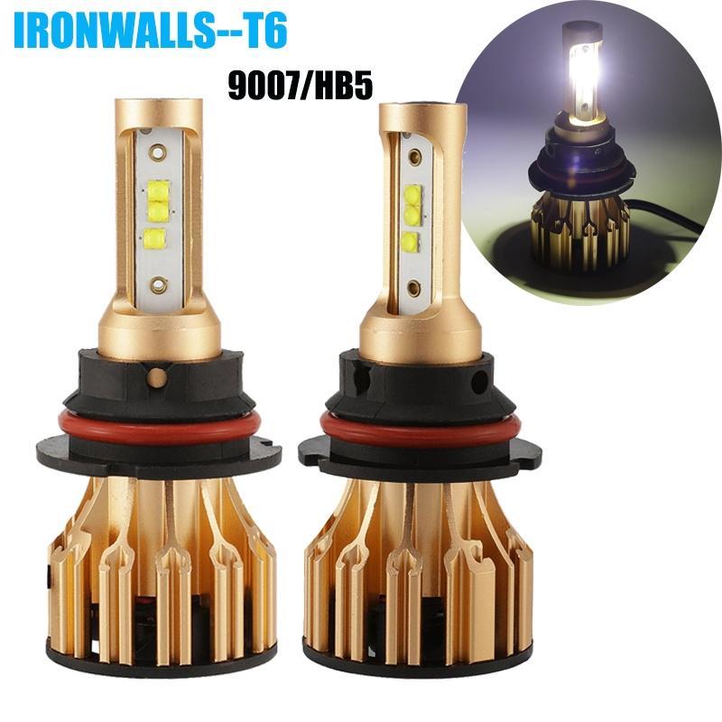 Universal H4 LED Bulb White Hi//Lo Beam Motorcycle Headlight 6500K DC9V-32V X 1