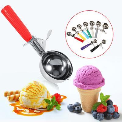 Poignée de crème glacée Scoop Dig boule Scoop Crème Glacée Cuillère Acier Inoxydable Cuillère