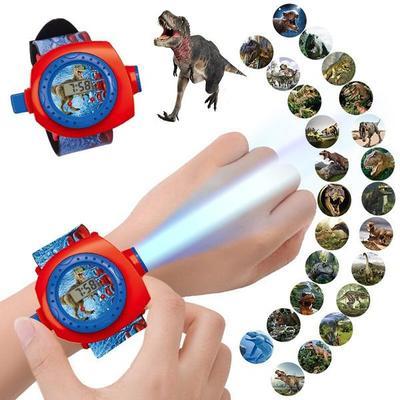 Children's Cartoon Projection Watch 24 Pictures Dinosaur Princess Lion Boys Girls Kindergarten Gifts Kids Clock Student Prizes