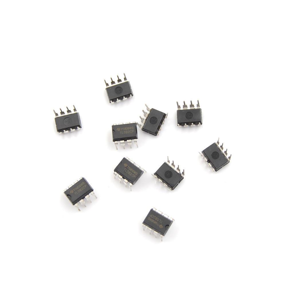 10PCS TL082 TI DIP8 IC JFET-INPUT OPERATIONAL AMPLIFIERS NEW