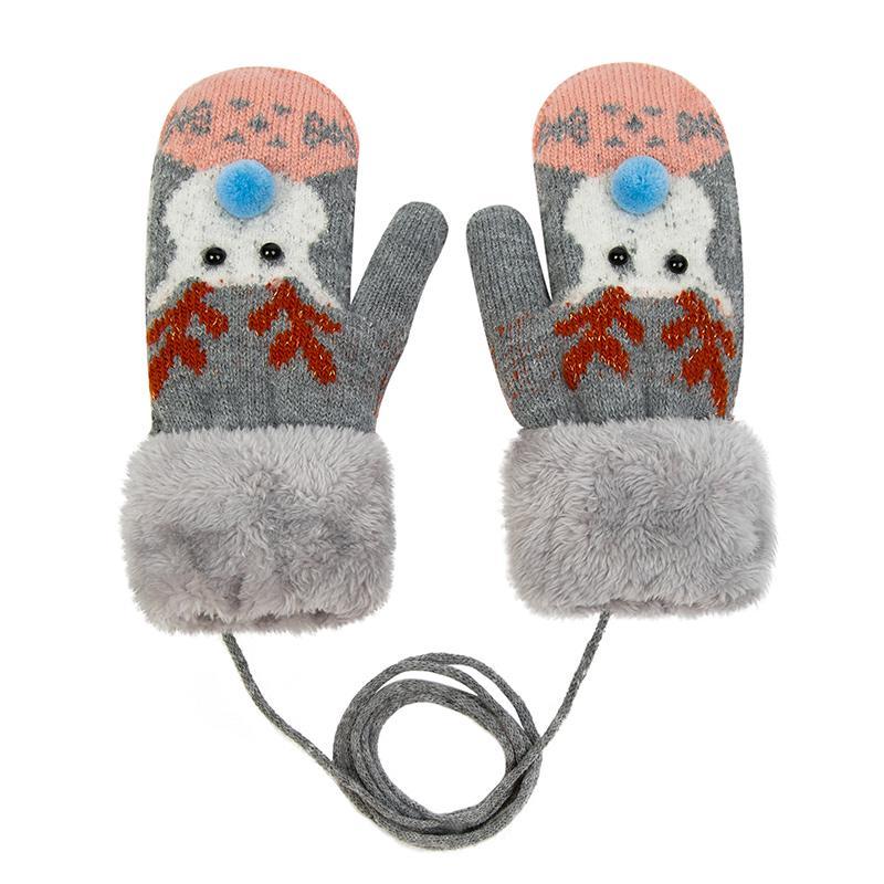 Moda mujer guantes gruesos para mujer caliente invierno punto giro ...