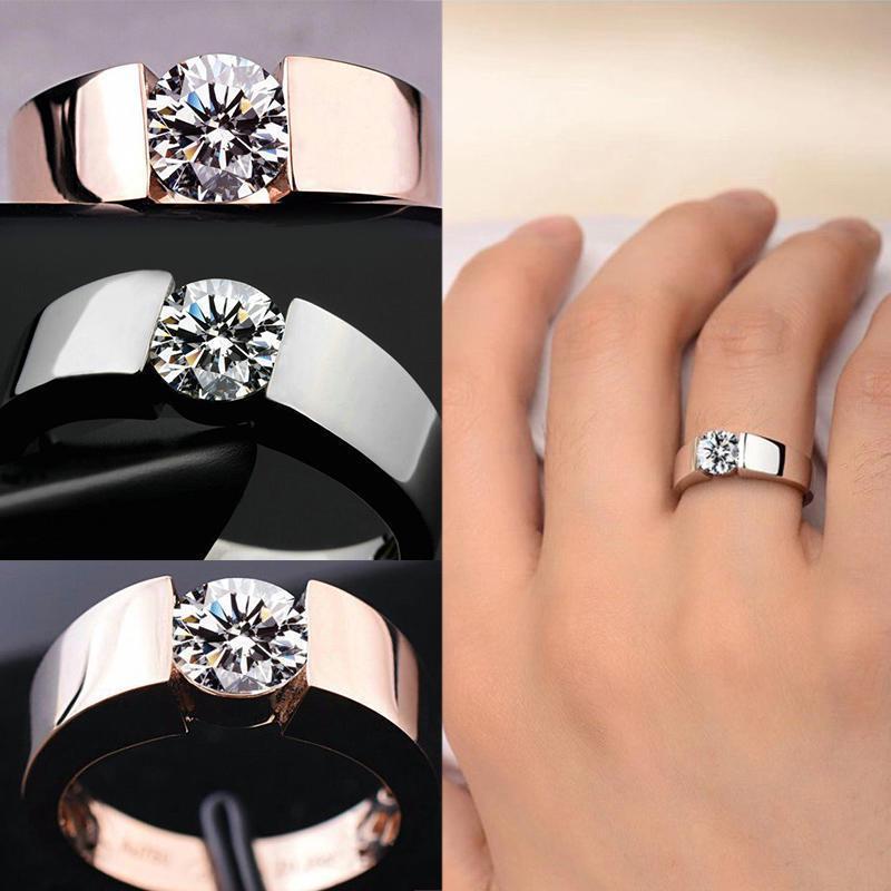Кольца с золотым и серебряным напылением с прозрачным кристаллом фото
