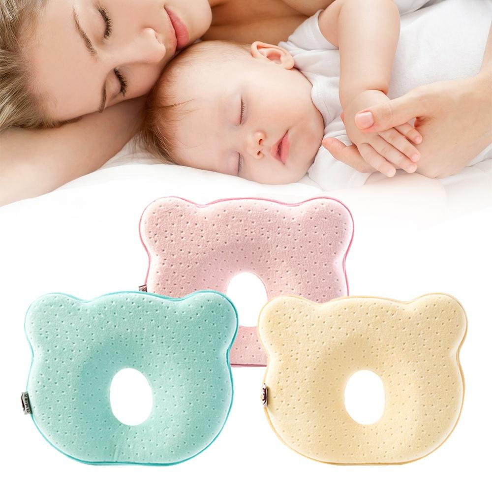 1PC Cotton Protection Flat Head Syndrome Baby Pillow for Newborn Kids
