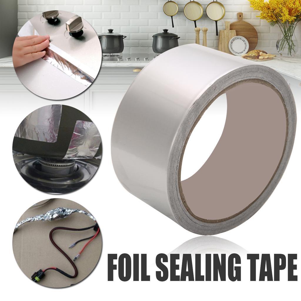 17M Aluminum Foil Adhesive Heating Duct Repairs Reflector Sealing Roll Tape